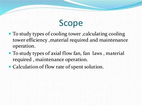 Scope Of Be Mechanical Mba by Spent Solution In Hydro