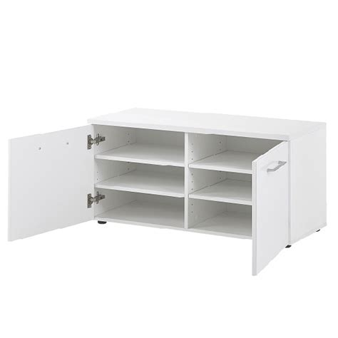 white shoe bench with doors vector shoe bench in white with 2 doors in glass fronts