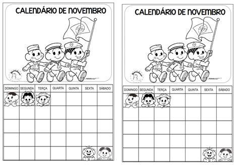 Calendario Novembro 2017 Calend 225 De Novembro 2017 Turma Da M 244 Nica S 211 Escola