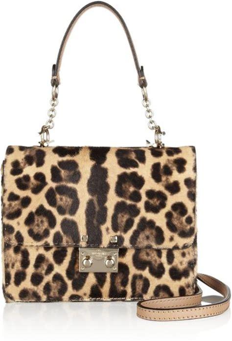 Valentino Animal Print Handbag by Valentino Leopardprint Calf Hair Shoulder Bag In Animal