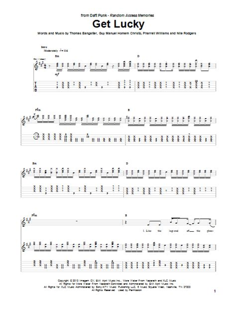 skye boat song strumming pattern get lucky feat pharrell williams guitar tab by daft