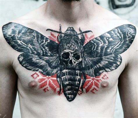 manly butterfly tattoos 50 skull chest designs for haunting ink ideas