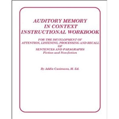 test of auditory processing skills 3 sle report paragraph sentences and memories on
