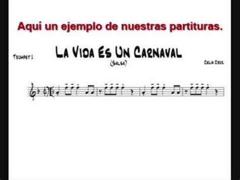 imagenes de la vida es un carnaval celia cruz la vida es un carnaval partituras de musica