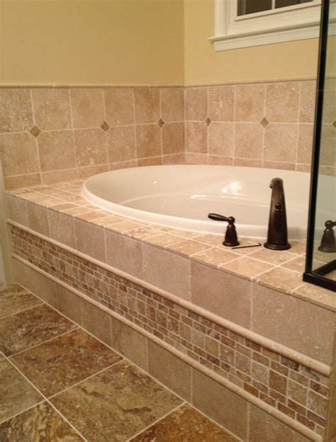 bathroom tile designs pictures light walnut and scabos travertine traditional