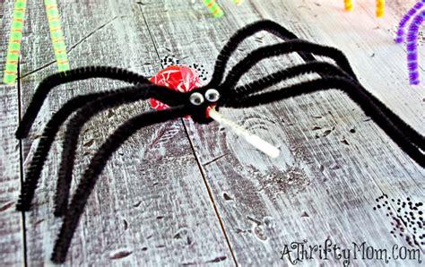 spider crafts diy lollipop spiders ghosts kid friendly craft