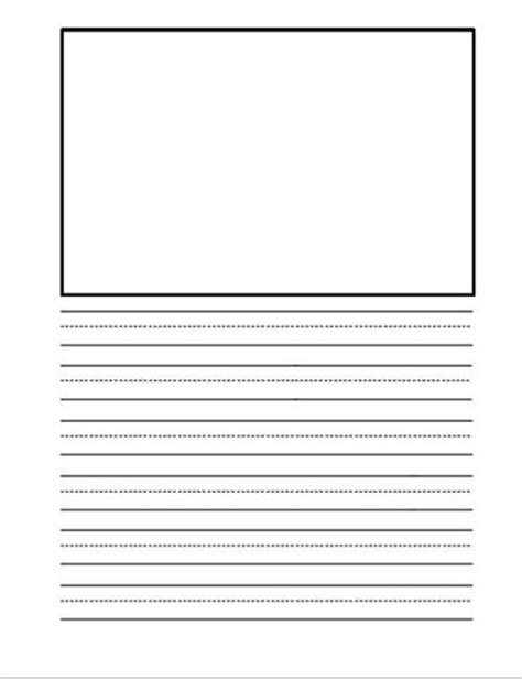 free printable lined paper with picture box free printable kindergarten writing paper search results