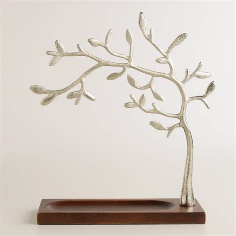 wood base tree jewelry stand world market