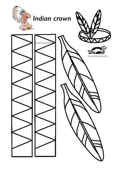 indian hat template krokotak print printables for