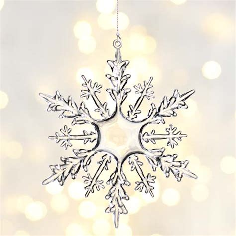 crystal clear snowflake ornament christmas ornaments