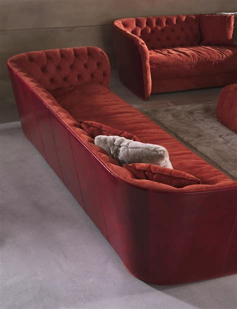fabric covered sofas sofa covered in fabric with tufted backrest idfdesign