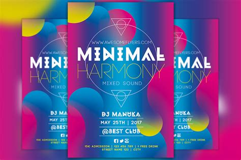 harmony flyer template minimal harmony free flyer template for electro