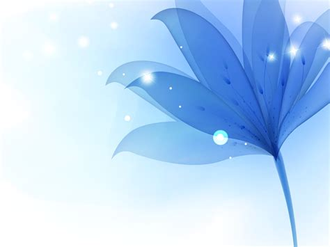 Blue Lily Flowers Backgrounds Blue Flowers Templates Free Ppt Backgrounds And Powerpoint Slides Powerpoint Flower Background