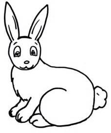 rabbit cut out template rabbit template clipart best
