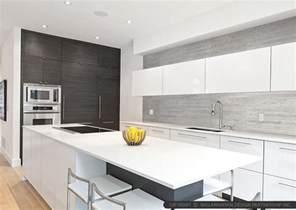 superb How To Tile Backsplash Kitchen #1: modern-gray-long-kitchen-backsplash-tile-white-cabinet-countertop.jpg
