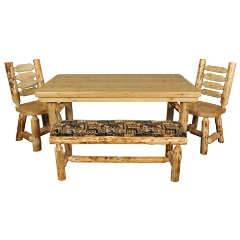 Log Dining Tables Rustic Pine Log Dining Table Minnesota Pine Log Dining Room Furniture The Log Furniture Store