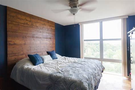 Floor To Ceiling Headboards by Diy Floor To Ceiling Wooden Headboard How We Did It