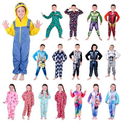 pajamas for 12 year olds onesie official character fleece all in one boys