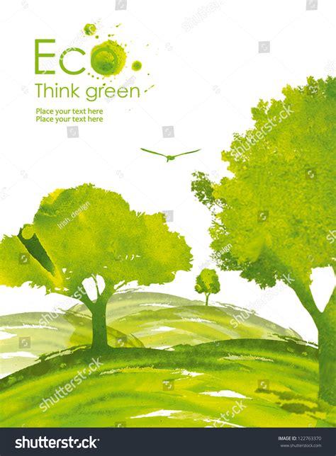 environmentally friendly trees illustration environmentally friendly planet green trees
