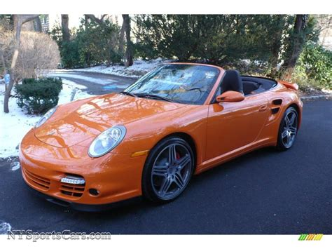 orange porsche convertible 2009 porsche 911 turbo cabriolet in orange paint to sle