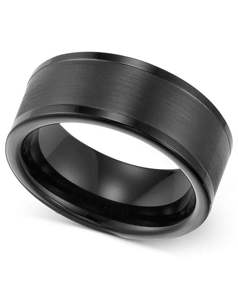 black tungsten mens wedding bands triton s 8mm black tungsten wedding band tungsten
