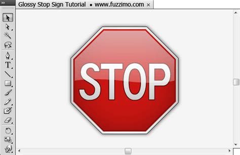 How To Make A Stop Sign Out Of Paper - illustrator tutorial make a glossy stop sign fuzzimo
