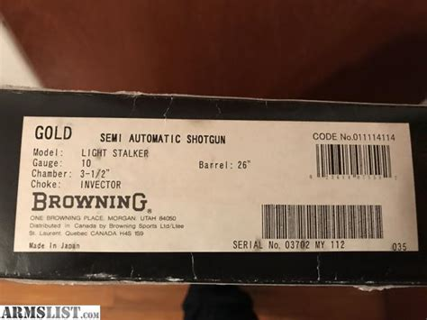 browning gold light 10 for sale armslist for sale browning gold light 10