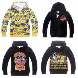 New 2015 boy hoodies minions clothes amp five nights at freddys clothes