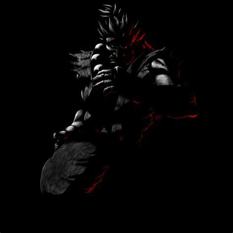 Fighter Akuma Black fighter 25th anniversary akuma sgs by hekoo on deviantart
