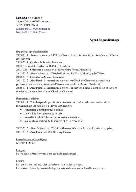 Exemple De Lettre Justice De Paix Modele Cv Gardien De La Paix Document
