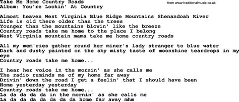 loretta song take me home country roads lyrics