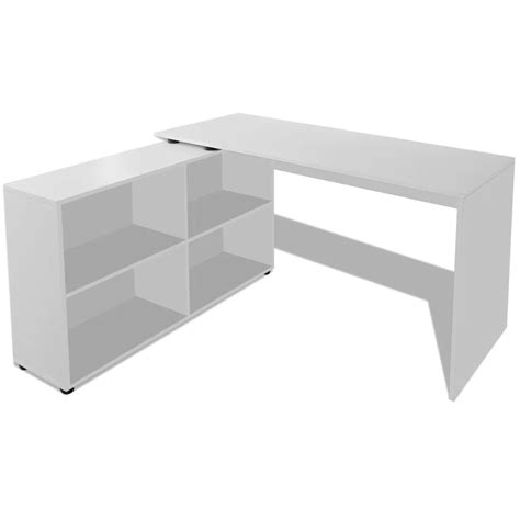 Desk Corner Shelf Vidaxl Co Uk Vidaxl Corner Desk 4 Shelves White
