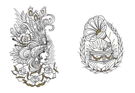 new traditional tattoo coloring pages