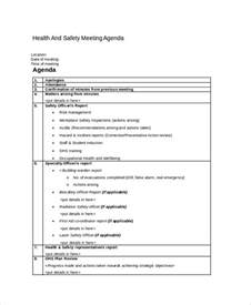 monthly safety meeting template safety agenda template 6 free word pdf documents