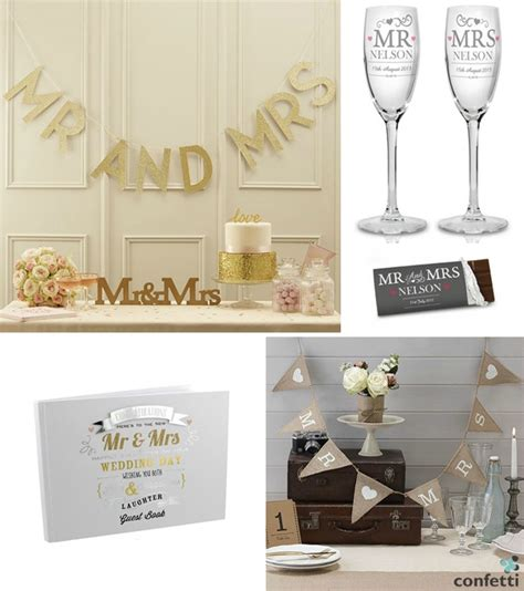 mr and mrs wedding gifts confetti co uk