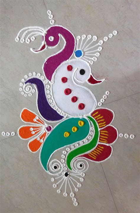 ganesh chaturthi 2017 easy rangoli designs and images