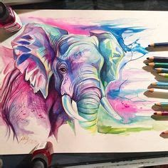 watercolor tattoo artists near boston elephant painting indian painted elephant wynne parkin www
