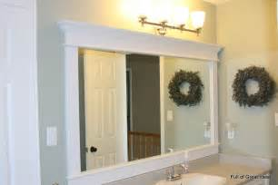 Bathroom Mirror With Frame Of Great Ideas Framing A Builder Grade Mirror That Is Not Between Two Walls