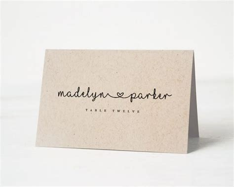 Template To Print Wedding Place Cards by Printable Place Card Template Wedding Place Cards