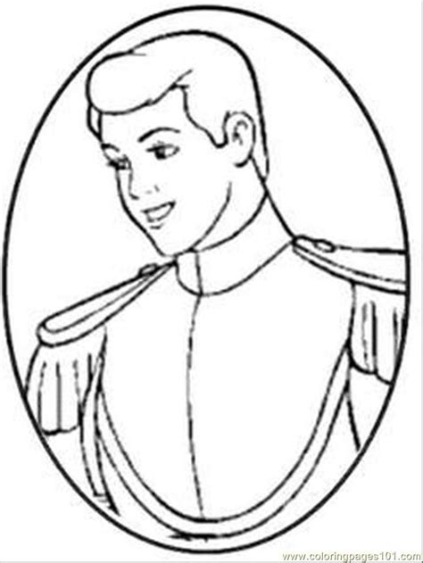 Prince Charming Coloring Pages cinderella color page az coloring pages
