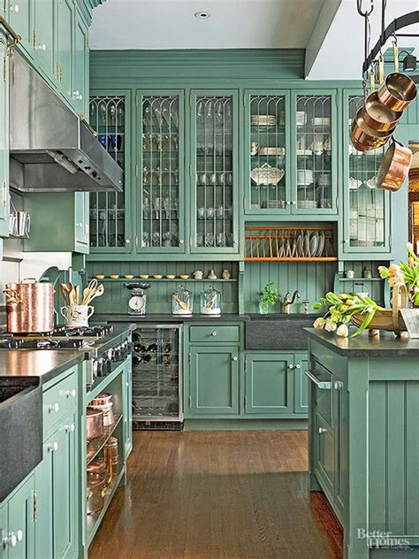 green colored kitchens 80 cool kitchen cabinet paint color ideas noted list
