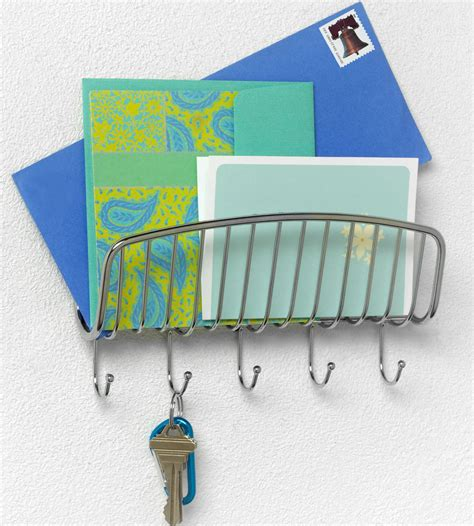 Wall Mounted Mail Organizer And Key Rack by Wall Mount Mail Organizer And Key Rack In Key Organizers