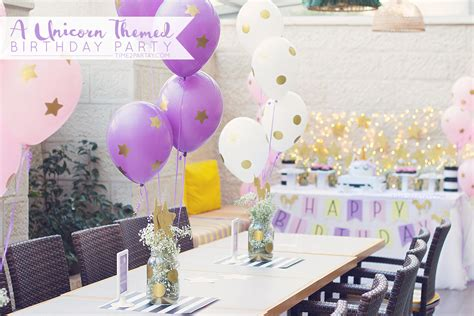 unicorn themed birthday party a unicorn birthday party time2partay com