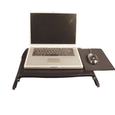 Laptop Tray Desk Portable Laptop Notebook Desk Non Slip Tray Black Ebay