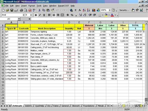 Download Free Repaircost Estimator For Excel Repaircost Estimator For Excel 11 03 Download Repair Estimate Template Excel