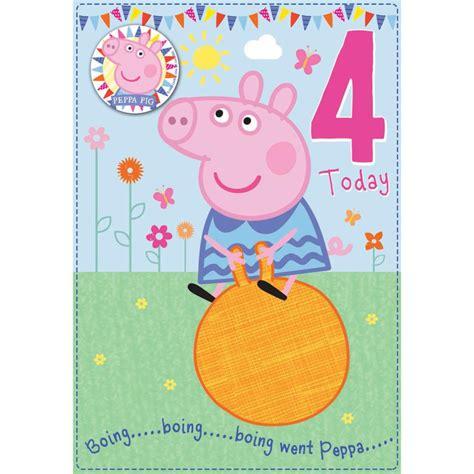 Pig Birthday Card Peppa Pig Greeting Birthday Cards Ebay