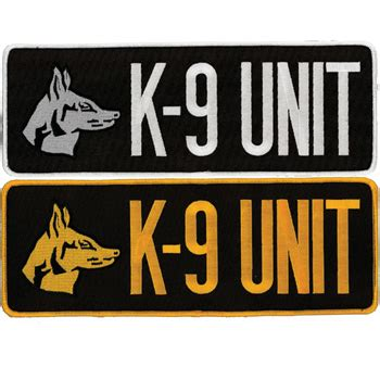 Rubber Patch Detasemen K9 K 9 Emblem Velcro Perekat Karet k 9 unit velcro patch elite k 9