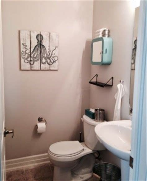 small powder room makeover paint colour is sherwin williams city loft ikea turquoise medicine