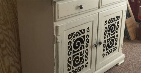 cabinet door makeover before and after cabinet makeover with scrollwork doors