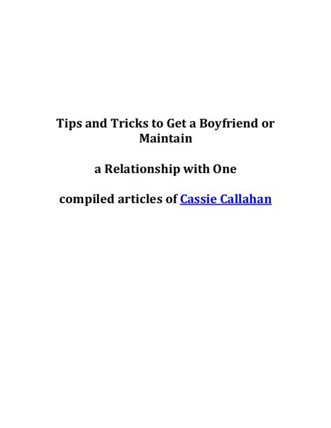 10 Tips On How To Get A Boyfriend For by Tips And Tricks To Get A Boyfriend Or Maintain